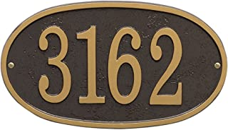 house number plaque oval