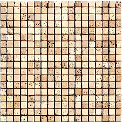 1rete Natura del mosaico di pietra pietra calcarea Mix in marmo Travertino Beige