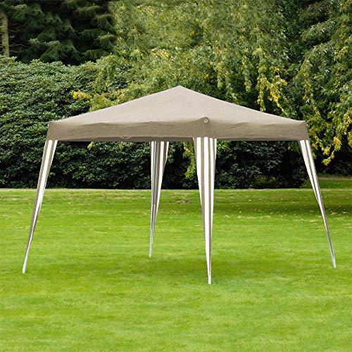Lifetime Garden 32607 Pavillon, Tonnelle, Tente de réception de jardin - pliable - 3 x 3 m - Taupe