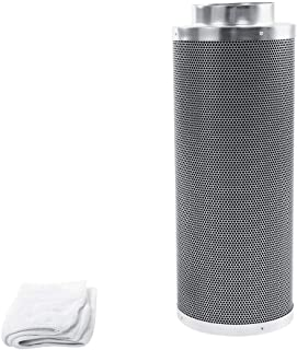 6 inch Stainless steel Carbon Filter Odor Control,Activated Charcoal Air Scrubber for Hydroponics Indoor Plant Grow Tent Room House Workshop(23.62 inch)