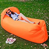 ONETWO Outdoor Air sofa bed,Wild casual folding Inflatable lounger Air lounger sleeping bag for beach park -J