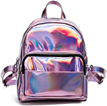 Best pink holographic backpack Reviews
