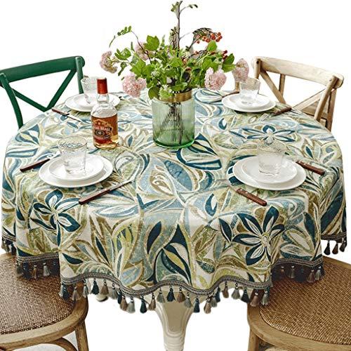 Tassel Round Nappe - Maison Salon Table Basse Coton Et Lin Nappe De Cuisine Table Tapis Hôtel Grande Table Ronde Décoration Table Cloth (taille : Diameter 200cm)