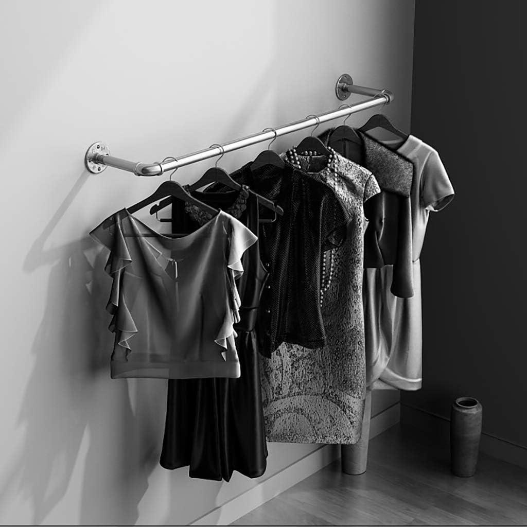 Industrie Stil Kleidung Kleiderstange Wand Garment Display Rack Color : Black Eisen Rohr Fertig L/änge 80cm Gewerbe Kleiderstange