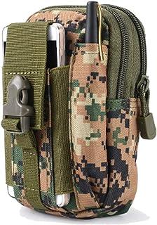 Bolsa de Tácticas Sistema Molle Bolso Cintura Militares Compacta Mochilas Macuto Tactical Monedero con Cinturón para Teléfono Celular Riñonera Carcasa - Pouch de Supervivencia Equipo para Hombres Mujeres Escalada Senderismo al Aire Libre