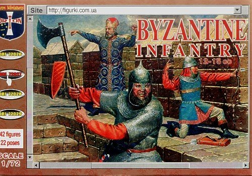ORION ORI72027 Infantry Byzantine 12-15 siècles, modèles en Plastique