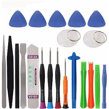 cohk 21 en 1 kit de herramientas de reparación de teléfono móvil Spudger palanca apertura herramientas