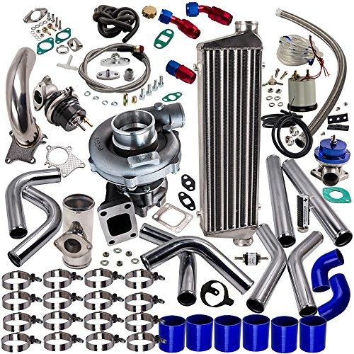 maXpeedingrods T3 T4 T04E Universal Turbo Turbocharger Piping Kit Intercooler External Wastegate 500HP 【EU STOCK】