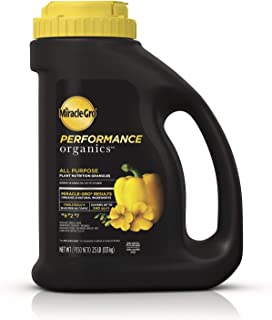 Miracle-Gro Performance Organics All Purpose Plant Nutrition Granules, 2.5 lb. - All-Purpose Plant Food - All-Purpose Formula for Vegetables, Flowers and Herbs - Feeds up to 240 sq. ft.