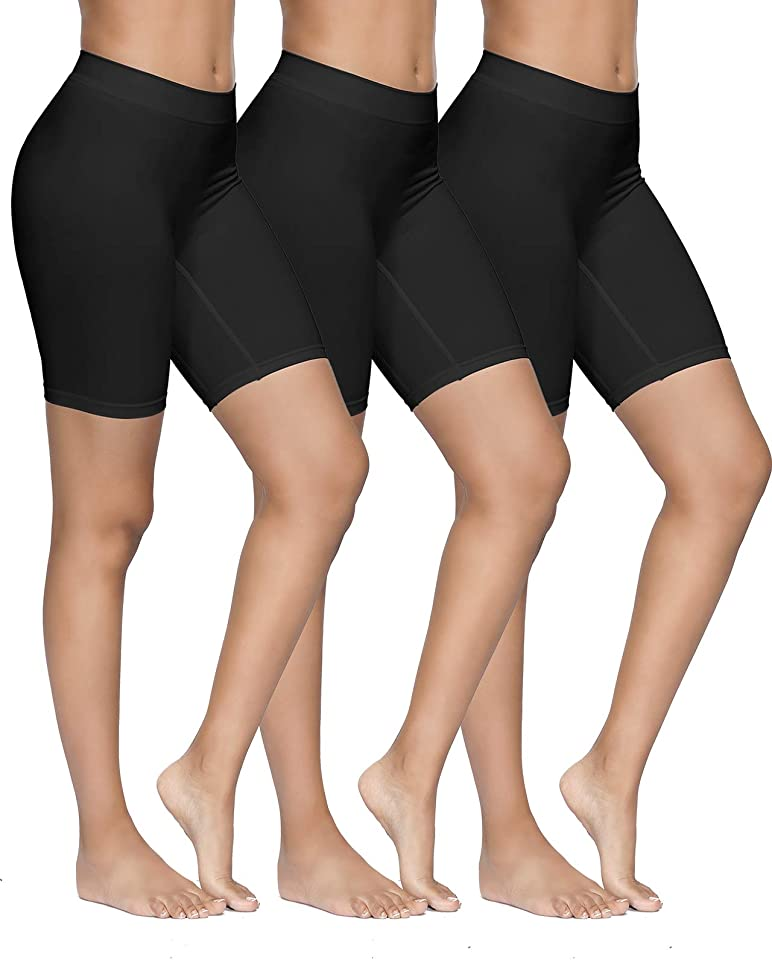 Womens Safety Shorts Anti Chafing Long Briefs Underwear Seamless Panties for Under Dresses Yoga Running Sports Leggings