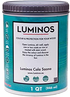 Luminos LUM1103 – Outdoor Wood Stain Finish Protector - Color Cala Saona (Blue) - Quart