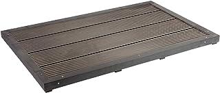 Elemento suelo para ducha solar Gris oscuro Superficie antideslizante WPC Ducha exterior de jardín
