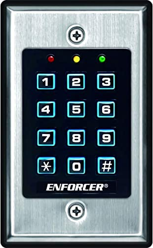 Seco-Larm SK-1011-SDQ ENFORCER Access Control Keypad, Up to 1,000 possible user codes (4-8 digits), Output can be pro...