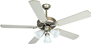 Craftmade K10422 Downrod Mount, 5 Brushed Nickel Blades Ceiling fan with 39 watts light, Brushed Satin Nickel