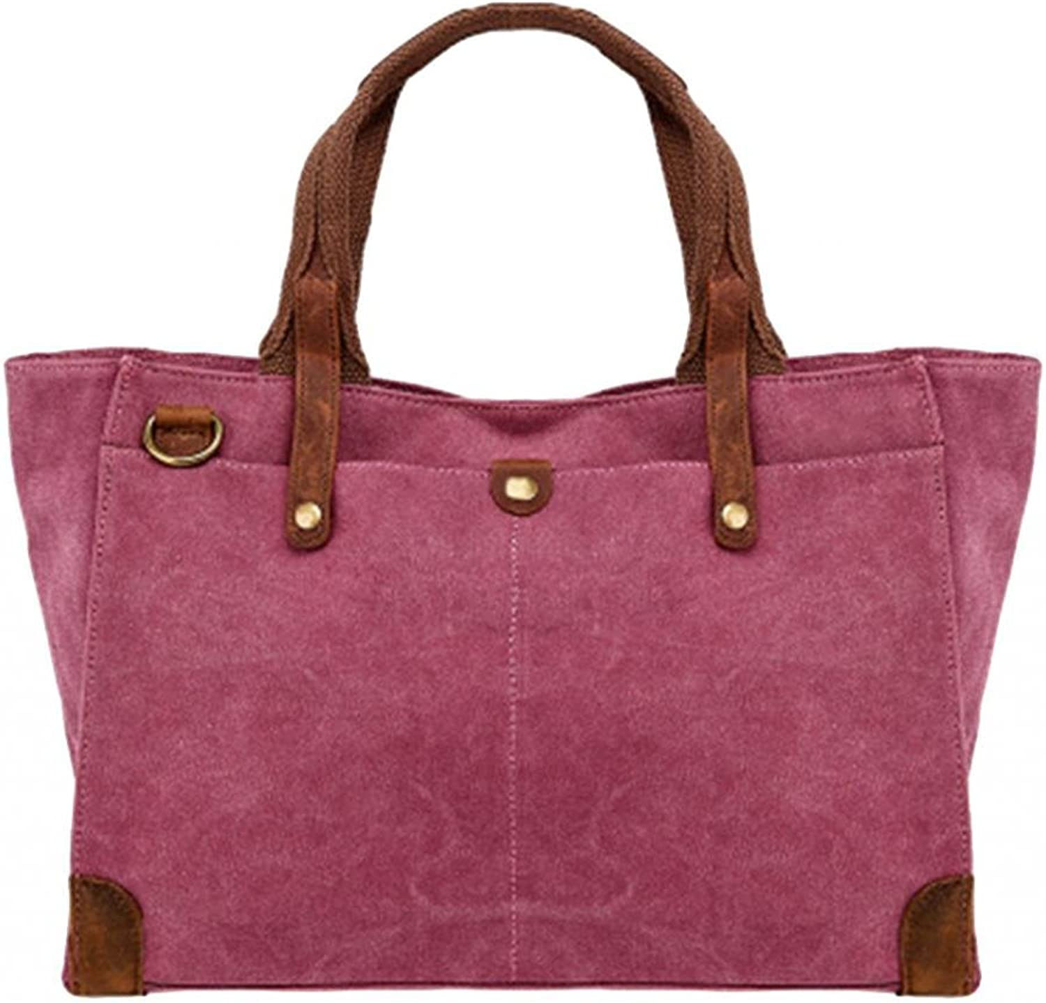 MedzRE Women's Fashion Large Canvas Shopper Weekend Tote Bag
