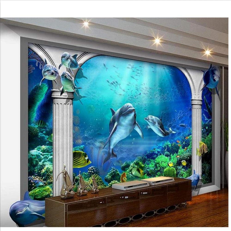 hasta un 70% de descuento Papel tapiz tapiz tapiz 3D de la habitación, murales personalizaños, no tejido, etiqueta de la parojo, Acuario oceánico de Roma, foto Sofá, Fondo de pantalla, papel tapiz para parojoes 3d-200x140cm  toma