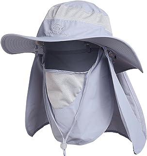 DDYOUTDOOR trade; 07-281 Fashion Summer Outdoor Sun Protection Fishing Cap Neck Face Flap Hat Wide Brim