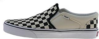 Vans' Men's Asher Slip On Sneaker Black/NAT