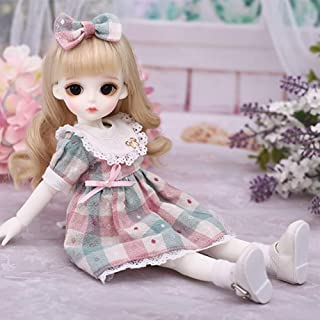 1/6 BJD Dolls SD Doll 10 Inch Ball Jointed Doll DIY Toys with Full Set Clothes Shoes Wig Makeup, Best Gift for Girls