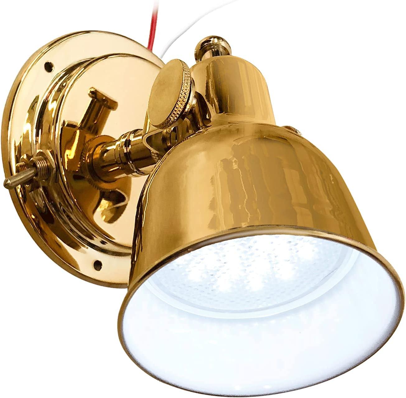 ADVANCED LED TiN Polished Department store Brass Bulkhead Berth Light Complete Free Shipping Finish Ef
