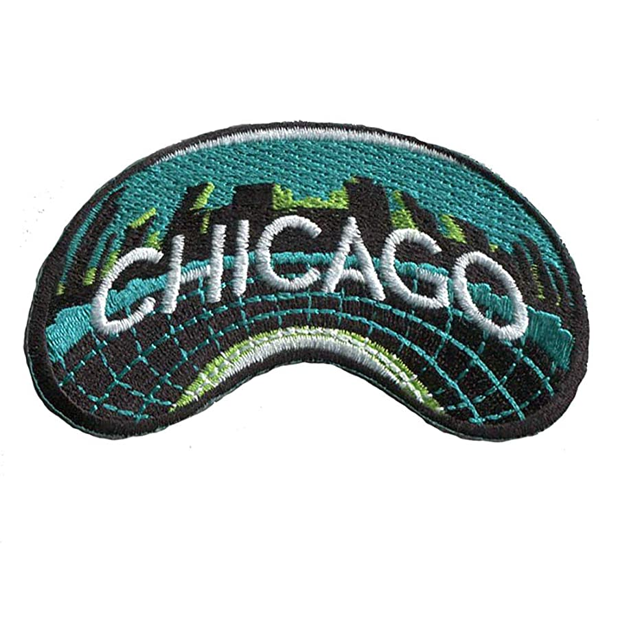 Chicago Travel Patch/Iron on Chicago Bean Patch/Great Gift or Souvenir for Backpack Travellers