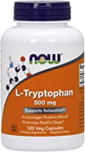 NOW Supplements, L-Tryptophan 500 mg, Encourages Positive Mood*, Supports Relaxation*, 120 Veg Capsules