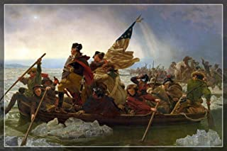 Emanuel Leutze Washington Crossing The Delaware River 1851 Oil On Canvas Painting Cool Huge Large Giant Poster Art 54x36