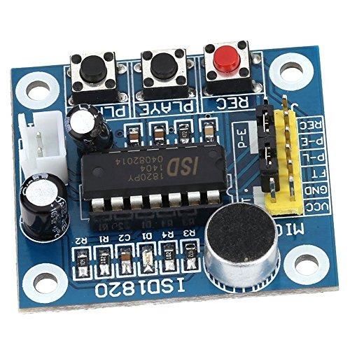 Huante ISD1820 Sound Voice Recording Playback Modul mit Sound Audio Lautsprecher