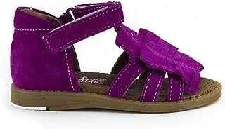 Minipicco Kız Çocuk Fuşya Deri Ortopedik Sandalet