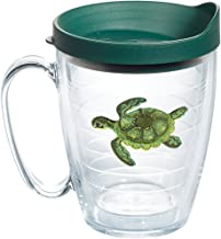 Tervis 1254360 Green Turtle Insulated Tumbler with Emblem and Hunter Lid, 16oz Mug, Clear