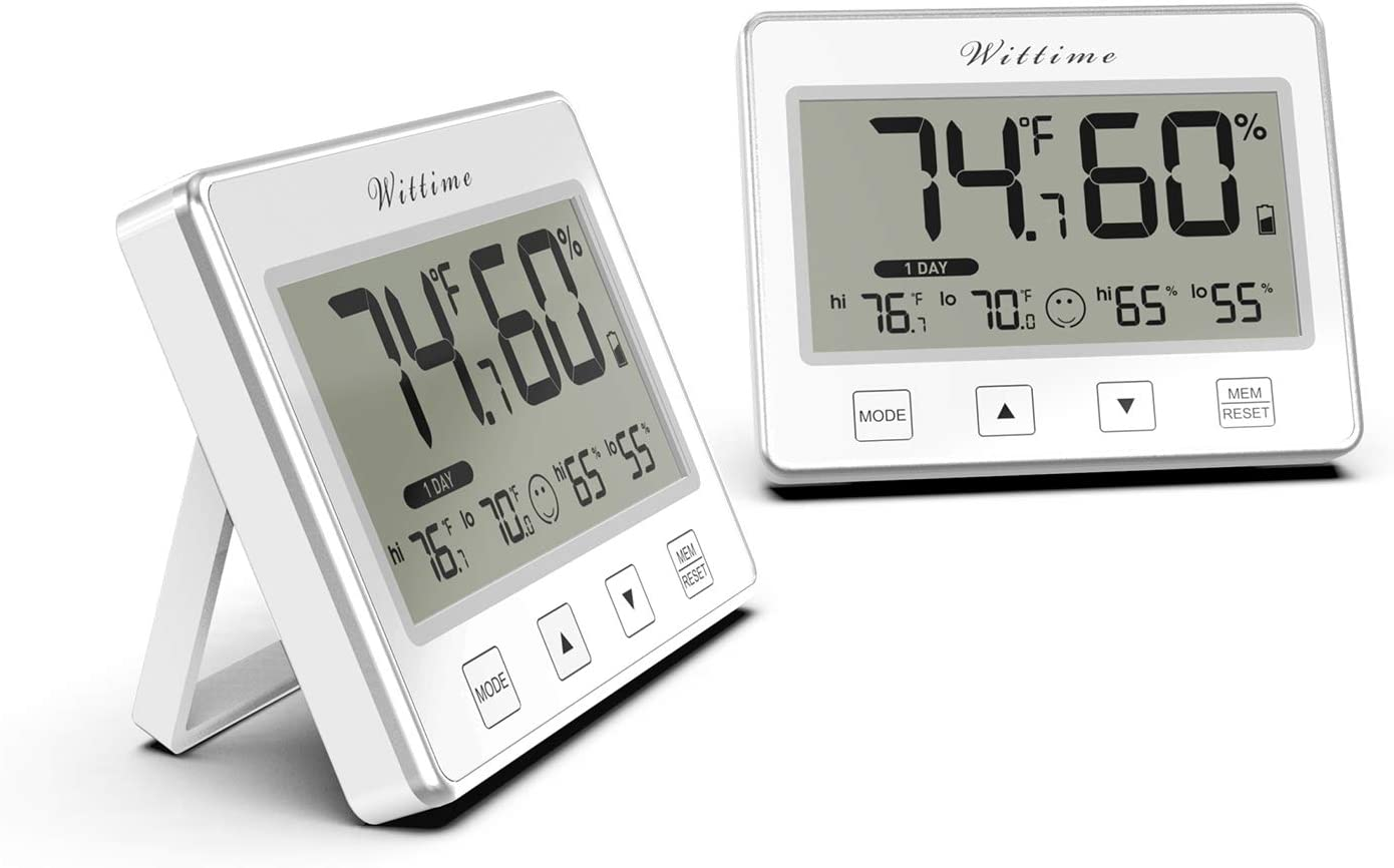 Wittime 3036 Max 74% OFF Las Vegas Mall Digital Indoor Temperature Hygrometer Thermometer