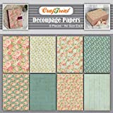 CrafTreat Floral Decoupage Paper for Crafts - Mini Flowers - Size: A4-8 Pcs - Flower Decoupage Paper for Wood, Furniture and Scrapboking
