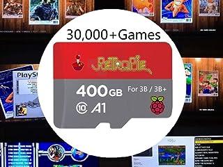 TAPDRA Tarjeta SD RetroPie de 400 GB para Raspberry Pi 3 B + con más de 30000 Juegos para más de 30 Sistemas, Juegos de es...