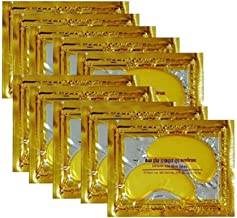 24K Gold Powder Gel Collagen Eye Masks Sheet Patch, Anti Aging,Remove Bags,Dark Circles &Puffiness,Anti Wrinkle,Moisturising,Hydrating,Uplifting Whitening,Remove Blemishes &Blackheads (30 Pairs)