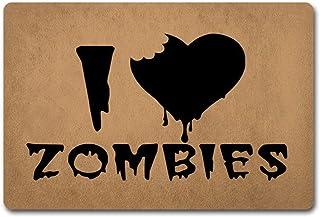 玄関マット玄関フロアマットおかしいドアマットI Love Zombies Doormat The Walking Dead Door Rugs-Non-Slip Doormat 23.6 By 15.7 Inch Non-Woven Fabri...