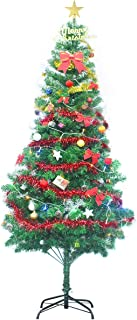 Gift Hunter PVC Artificial Christmas Tree with Multi-Color LED Lights and Decorations - 6.9 Feet, Green
