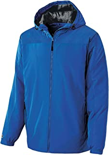 Holloway Youth Bionic Hooded Jacket (X-Large, Royal/Carbon)