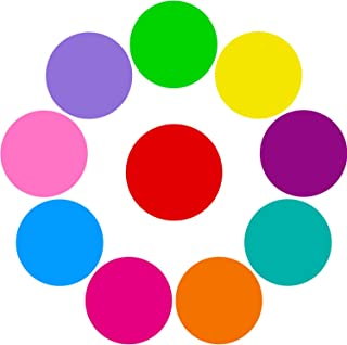 Tatuo 10 Pieces Colorful Dry Erase Circles White Board Marker Removable Vinyl Dot Wall Decal for Drills and Training School Teaching Progress (11.8 inch)