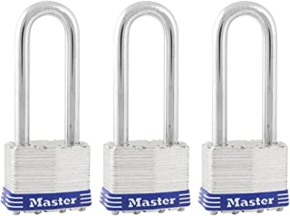 Master Lock Padlock, Laminated Steel Lock, 1-3/4 in. Wide, 1TRILJ (Pack of 3-Keyed Alike)