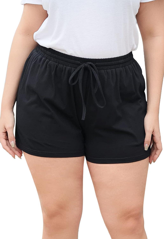 Nemidor Womens Plus Size Casual Sport Yoga Summer Athletic Dolphin Shorts with Pocket NEM273