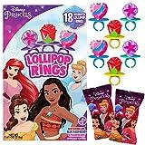 Disney Princess Decorated Lollipop Rings, Bulk Flavored...