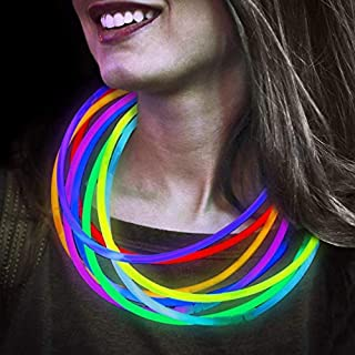 Lumistick 22 Inch Glow Stick Necklaces   Non-Toxic & Kids Safe Light Up Neckwear   Bendable Sticks with Connectors   Glows in The Dark Night Party Favor (Color Assortment, 1200 Necklaces)