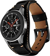 Balerion Cuff Genuine Leather Watch Band,Compatible with Galaxy Watch 46mm,Gear S3,Fossil Q Explorist/Q Marshal Gen 2 and Other Standard 22mm Band Width Watch,Black