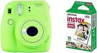 Fujifilm  Instax Mini 9 Verde + 1 paquetes de películas fotográficas instantáneas (10 hojas)