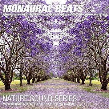 Monaural Beats Golden Sine 6.0 Hz (Creative visualization)