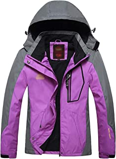 XFentech Men's Women's Jacket - Windproof Outdoor Warm Waterproof Jacket with Hood