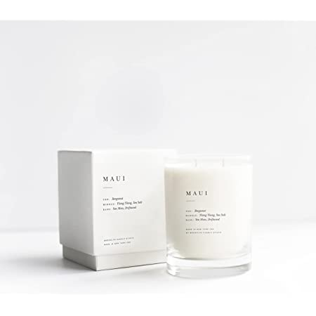Brooklyn Candle Studio Maui Escapist Candle | Vegan Soy Wax Luxury Scented Candle, Hand Poured in The USA, 70 Hour Slow Burn Time (13 oz)