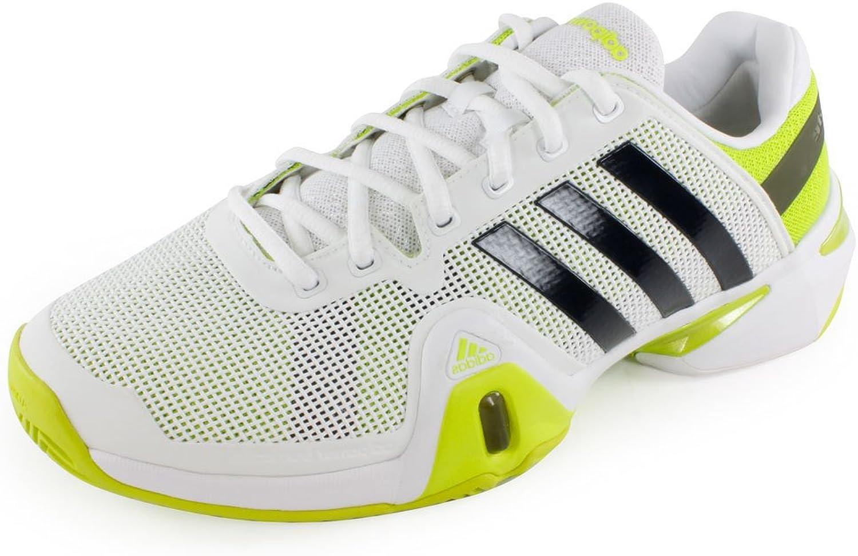 Adidas Men's Barricade 8 (White Night Shade Solar Slime)
