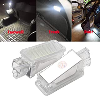 MOLEAQI 2 Piezas de Luces de matrícula LED para Coche para Au-di A2 A3 A4 A5 A6 A7 A8 RS4 RS6 R8 TT TTS 3W 12V Luces de Pu...