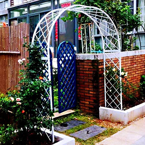 S-AIM Outdoor Metal Garden Arch Arbor, Archway for Climbing Plants Roses Vines, Outdoor Garden Lawn Backyard Patio, Wedding